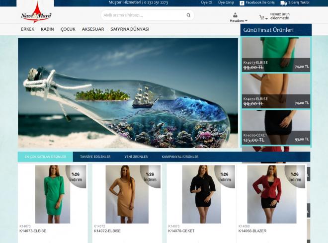 Navi & Mare Web tasarım